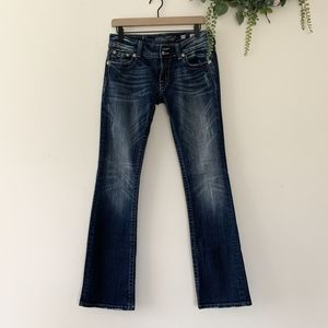 Miss Me Distressed Boot Cut Jeans   Size 29